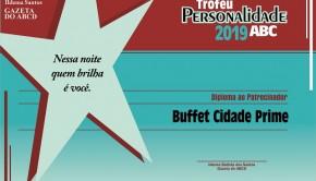 diploma patrocinador personalidade 2019 CIDADE PRIME